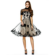 TS Couture® Prom / Cocktail Party / Company Party Dress A-line High Neck Knee-length Tulle with Appliques / Lace