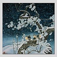 Ručně malované ZvířeModerní / Klasický / Tradiční / evropský styl Jeden panel Plátno Hang-malované olejomalba For Home dekorace