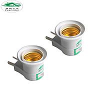 Zweihnder  E27 Wall-plug Dual Plug Switch Lampholder Lamp Socket Wall Plug 250V 6A for Household Industrial Lighting