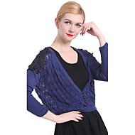 여성 캐주얼 / 작업 긴 소매 스웨터, 니트 매체