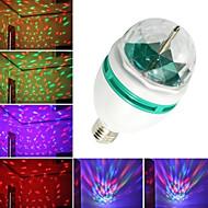 YouOKLight® 1PCS E27 Automatic Rotating 3W Colorful RGB Light 3-LED Lamp Bulb for Decoration(AC110-120V / AC220-240V)