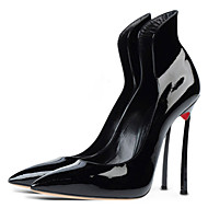 Women's Shoes Patent Leather Stiletto Heel Heels / Pointed Toe Heels Party & Evening / Dress / Casual Black