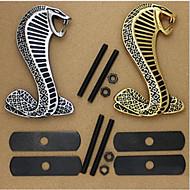 3d metalli kromi tarra auton etusäleikkö kääntämällä logo Cobra tunnus Shelby Mustang Carros Car Styling