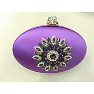 Women Silk Formal / Event/Party Evening Bag Purple / Blue / Green / Gold / Red / Silver / Black / Burgundy