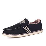 Men's Fashion Loafers Versac Casual/Travel/Office & Career Fabric Warm Walking Slip on Shoes
