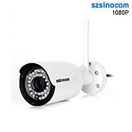 szsinocam®1080p מצלמת IP wifi כדור IR עמיד למים,, השקפה ניידת, 40m מרחק, לחצן שחזור, תקע ולשחק.