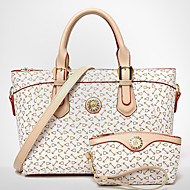 VUITTON® Women PU Barrel Shoulder Bag / Tote / Clutch - White / Pink / Blue / Brown
