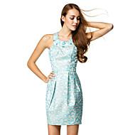 TS Couture Cocktail Party Dress - Print Sheath/Column Jewel Short/Mini Satin