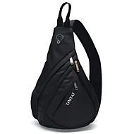 TINYAT Men Functional Cool Style Chest Bag Pack Modern Style Big Capacity Outside Black Messenger Bag T509