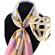Fashion Inlay Diamond Three Rings Scarf Buckle