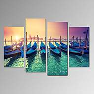 VISUAL STAR®Italy Venice Cityscape Canvas Print Stretched and Framed Ready to Hang