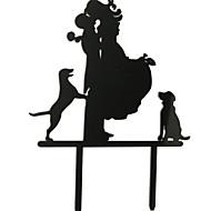 Figurine - Akryyli - Häät / Vuosipäivä / Bridal Shower-kutsut - Ranta-teema / Puutarha-teema / Klassinen teema - Klassinen pari