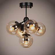 Chandeliers 5 Lights/Glass Ball Lights/ Retro Living Room / Bedroom / Dining Room / Hallway / Outdoors / Garage Metal
