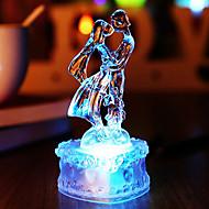 12 * 6 * 6センチメートルクリスマスアクリルクリスタル美しいカラフルな愛好家の夜の光は、ランプ1個を主導