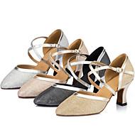 Na zakázku - Dámské - Taneční boty - Latina - Satén - Jehlový podpatek - Černá / Slonová kost / Stříbrná / Zlatá