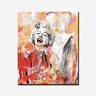 Abstracto / Pessoas / Famoso / Romântico / Pop Art Impressão em tela Um Painel Pronto para pendurar , Quadrada