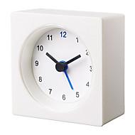 Basic Economical White Vackis Alarm Clock
