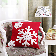 Embroidered Snow Christmas Pillow With Insert