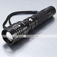 Iluminação Lanternas LED LED 1200 Lumens 5 Modo Cree XM-L T6 18650.0 / AAAProva-de-Água / Recarregável / Resistente ao Impacto / Tático /