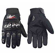 PRO-BIKER Professional Skid-Proof Full Finger Stainless Steel Motorcycle Racing Gloves