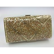 Women Silk Baguette Evening Bag - Gold / Silver / Black