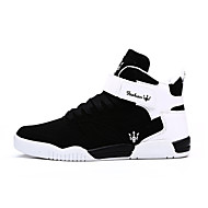 Running Shoes Men's Shoes Outdoor Fashion Sports Shoes Leisure Upper Microfiber fabric Shoes Black/White/White and Black