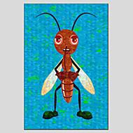 dipinti ad olio miele carino stile ape, materiale tela con telaio in legno pronto ad appendere formato: 60 * 90cm.