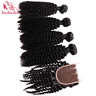 """smilco 8 """"-30"""" 4 nippua sulkemisuhan hiuksista brasilialainen kinky kiemura sulkemisuhan hiukset hiuksista kutoa"""