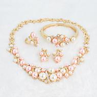 Conjunto de jóias Imitação de Pérola / Strass Strass / Imitação de Pérola Mulheres