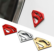 8x5.4cm store metal 3d 3m krom auto logo badge metal superman bil decal sticker