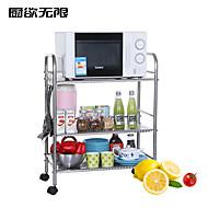 ChuYuWuXian® Stainless Steel  60cm Three Layers Storage Shelf  Microwave Oven Shelf
