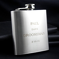 Personalized Stainless Steel Hip Flasks 6-oz Flask Thanks Gift