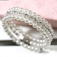 Bracciali/Dell'involucro del braccialetto Lega / Perle finte / Strass Quotidiano / Casual Gioielli Regalo Bianco,1 pezzo