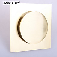 weiyuwuxian® oro de latón macizo anti-olor empuje hacia abajo emergente piso de drenaje 4inch