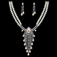 Women's Imitation Pearl / Alloy / Rhinestone Jewelry Set Rhinestone