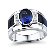 Ring,925 Sterling Silver Diamond / Imitation Sapphire / Imitation Diamond Oval Wedding / Party / Daily / Casual / Sports / N/A Jewelry