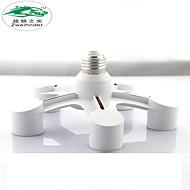 Zweihnder 5 In 1 E27 to E27 LED Lamp Bulbs Socket Splitter Adapter Holder For Photo Studio