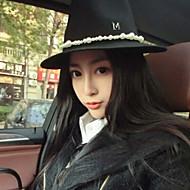 Women Wool Fedora Hat , Cute / Casual Winter