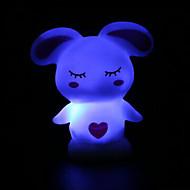 6 * 5 * 8 cm Boże Narodzenie 7 kolorów błędy baterii królik noc światło lampy LED 1szt