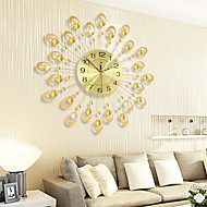 Modern Creative Fashion Metal Mute Wall Clock