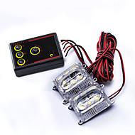 2PCS 컨트롤러와 램프를 실행하는 멀티 모드 스트로브 빛 깜박이는 낮 시간을 3 주도 - 백색광