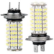 2 carro H7 3528 SMD 120 lâmpadas LED de luz branca luz de nevoeiro