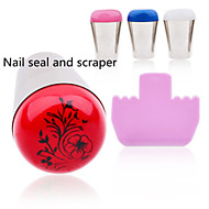 1pcs Nail Printing Tool Stainless Steel Metal Seal and Scraper