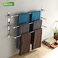 WeiYuWuXian® 304 Stainless Steel 15.7Inch Polished Finish Three Towel Bars Towel Rack