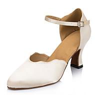 Na zakázku - Dámské - Taneční boty - Latina - Satén - Jehlový podpatek - Slonová kost