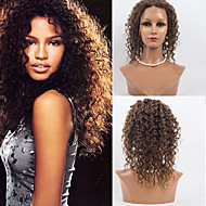 14inch 전체 레이스 머리는 100 % 사람의 모발 깊은 웨이브 머리 여성을위한 몽골어 처녀 머리 가발 가발 가발