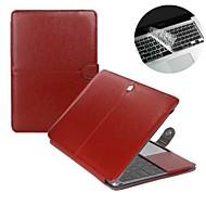 """muoti 2 in 1 PU nahka kannettava tietokone tapauksessa kattaa MacBook Air 11 """"/ 13"""" + läpinäkyvä näppäimistö kattaa protecter"""