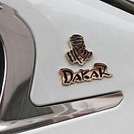 populær 3d dakar rally racing badge metall klistremerke av høy kvalitet bil dekor klistremerker bil ombyggingen emblem