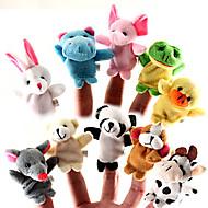 Set of 10 Forest Animal Plush Finger Puppets Kids Talk Prop (Random Types)