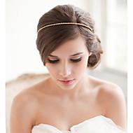 Golden Alloy Crystal Rhinestone Headband for Wedding Party Jewelry